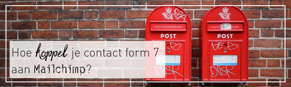 Hoe koppel je mailchimp aan contact form 7